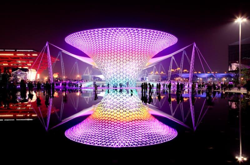 Le boulevard d'expo à l'expo du monde à Changhaï photographie stock libre de droits