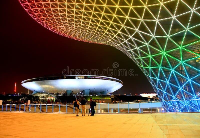 Le boulevard d'expo à l'expo du monde à Changhaï image stock