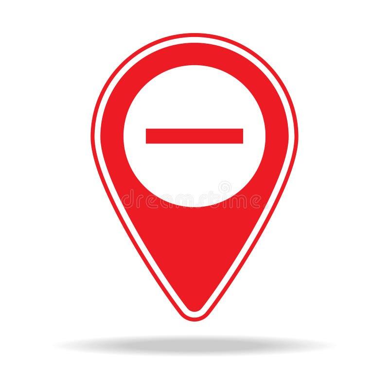le bourdonnement tracent l'icône de goupille Élément d'icône d'avertissement de goupille de navigation pour les apps mobiles de c illustration de vecteur