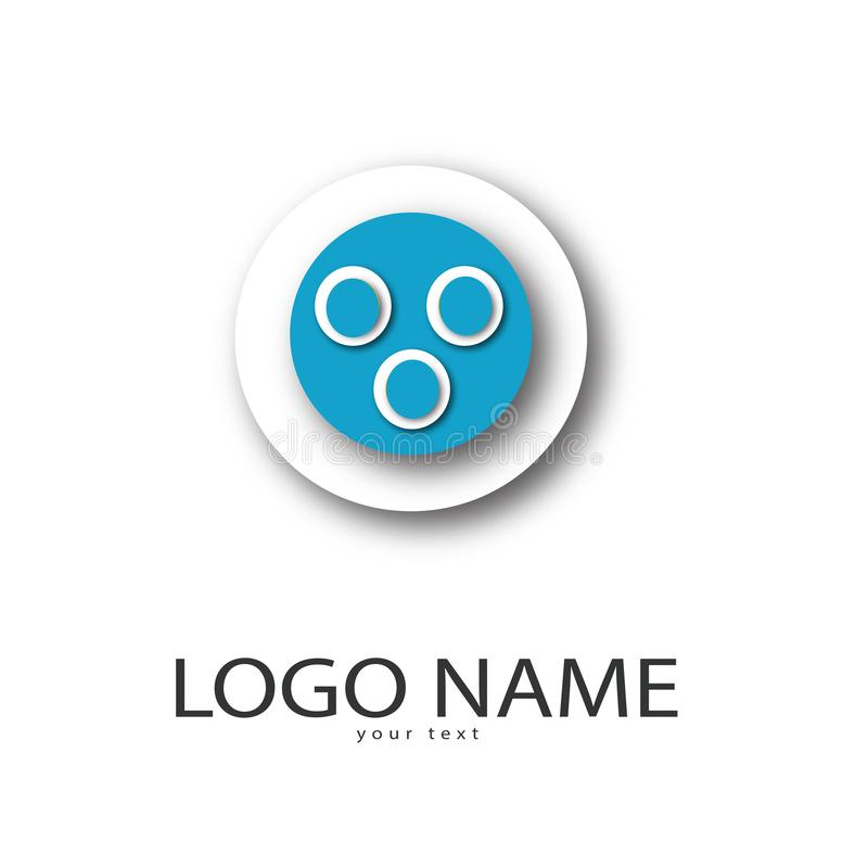 Le bouton bleu de couleur pour l'étudiant, bébé joue, des qualifications, société, amusement illustration de vecteur