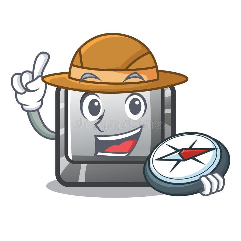 Le bouton C d'explorateur a isolé dans la bande dessinée illustration de vecteur