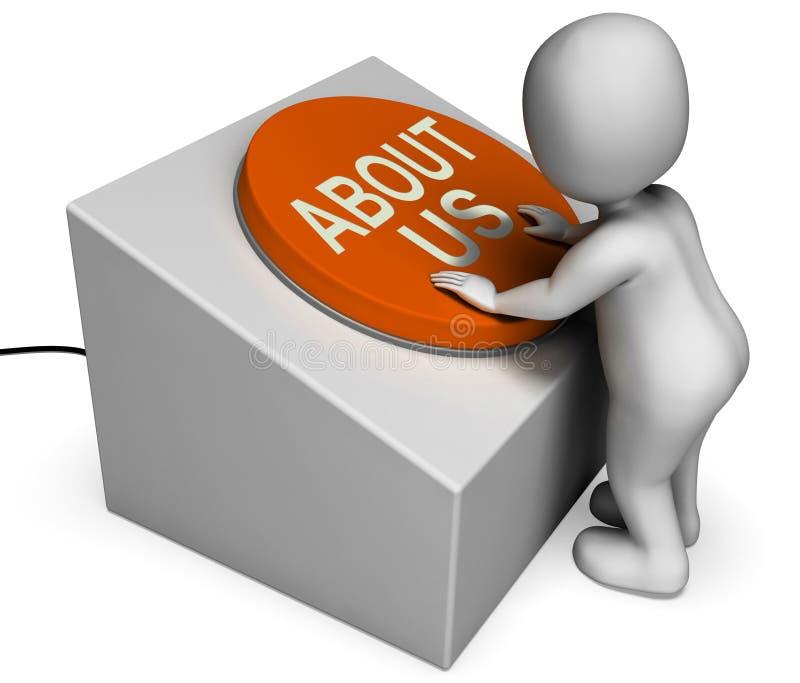 Le bouton de qui sommes-nous montre l'introduction et l'information illustration de vecteur