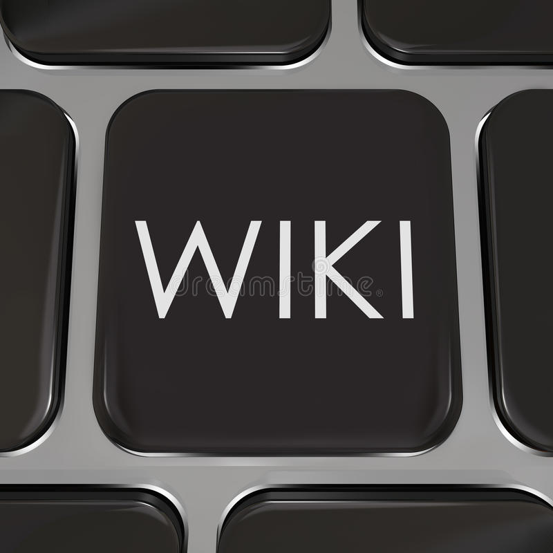 Le bouton de site Web de touche d'ordinateur de Wiki éditent l'information illustration de vecteur