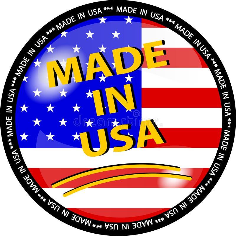 le bouton a effectué les Etats-Unis illustration de vecteur