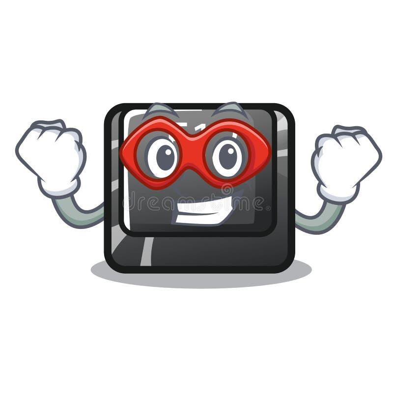 Le bouton f12 de superhéros a isolé dans le caractère illustration libre de droits