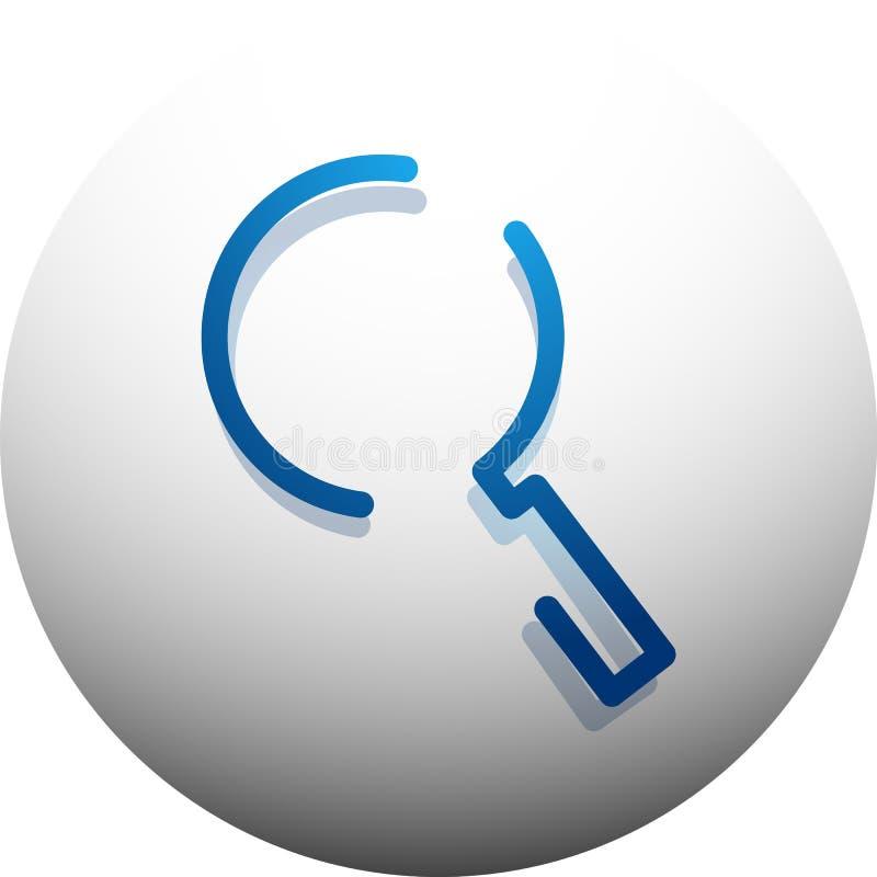 Le bouton magnifyier de Web de recherche, magnifient l'icône Signe moderne de loupe, conception de site Web ou APP mobile illustration libre de droits