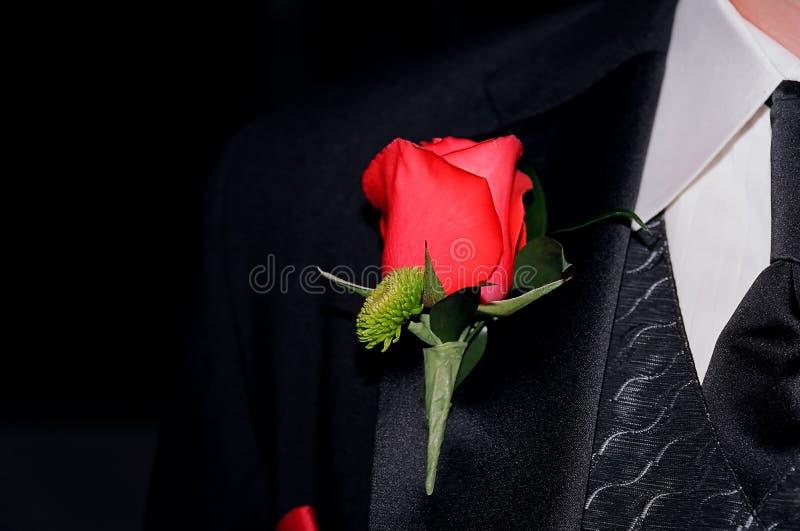 Download Le boutonnière du marié image stock. Image du spécial - 738801