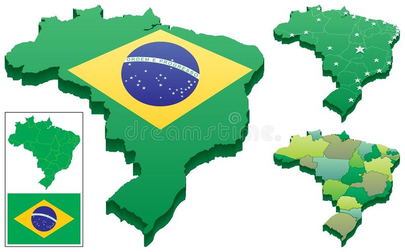 Le Brésil illustration de vecteur