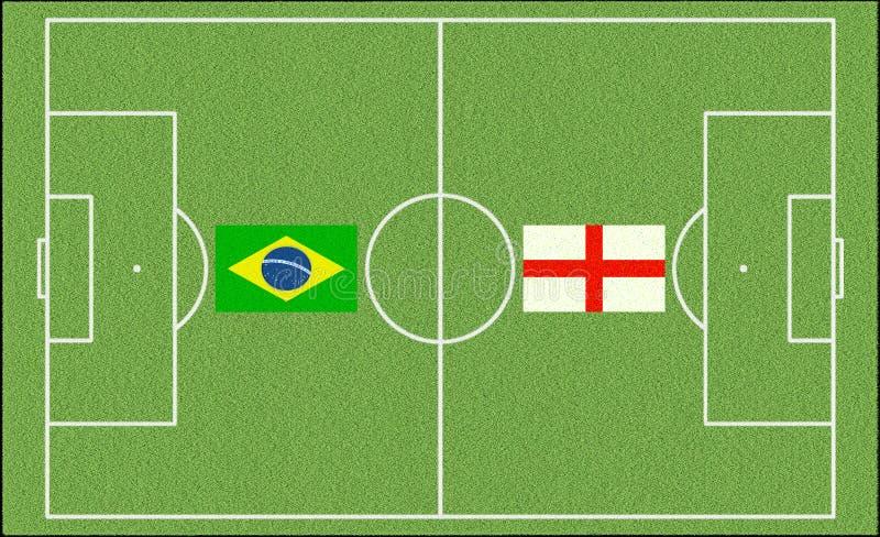 Le Brésil contre L'Angleterre dans le football illustration de vecteur