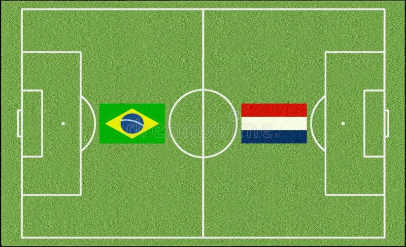 Le Brésil contre netherlands illustration de vecteur