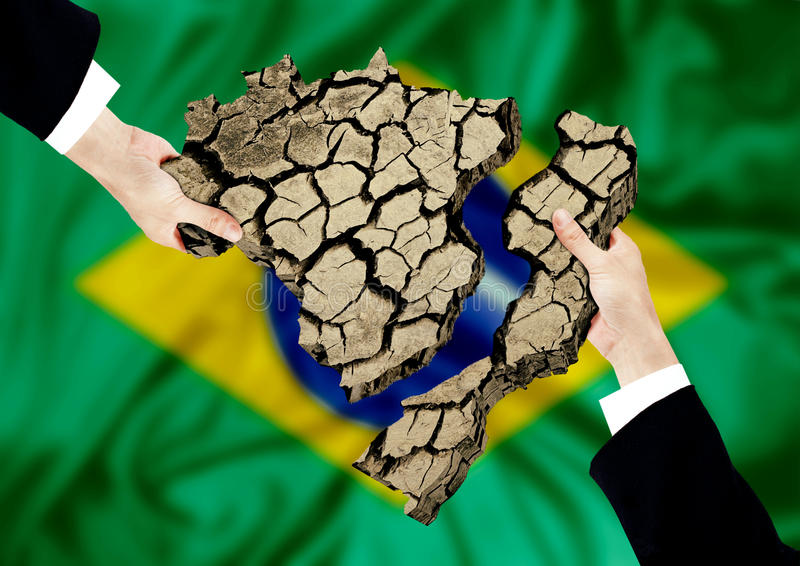 le Brésil de pillage illustration libre de droits