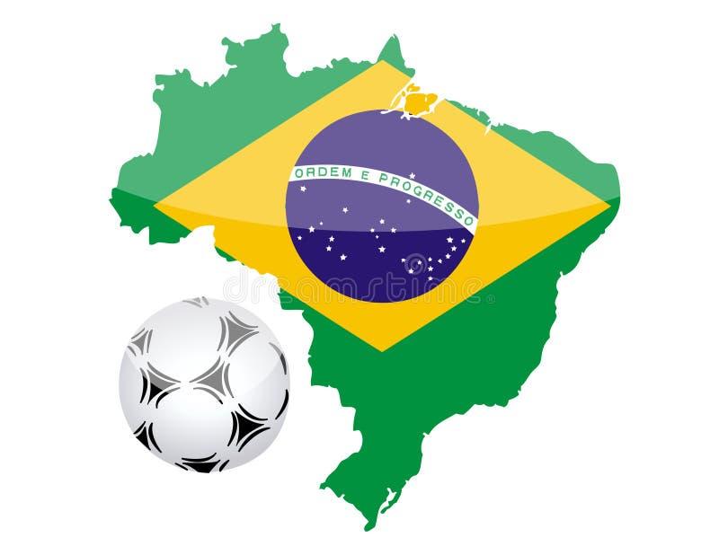 Le Brésil et la bille de football illustration libre de droits
