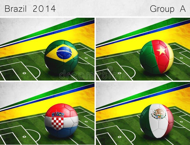 Le Brésil 2014, groupent A images stock