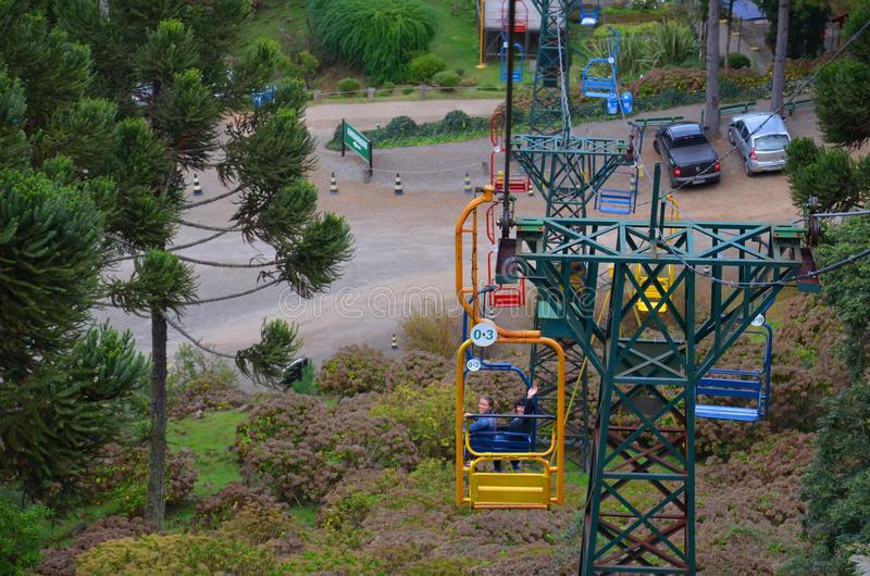 Le Brésil, Rio Grande do Sul, Gramado Canela, Parque célèbre font Caracol photographie stock libre de droits
