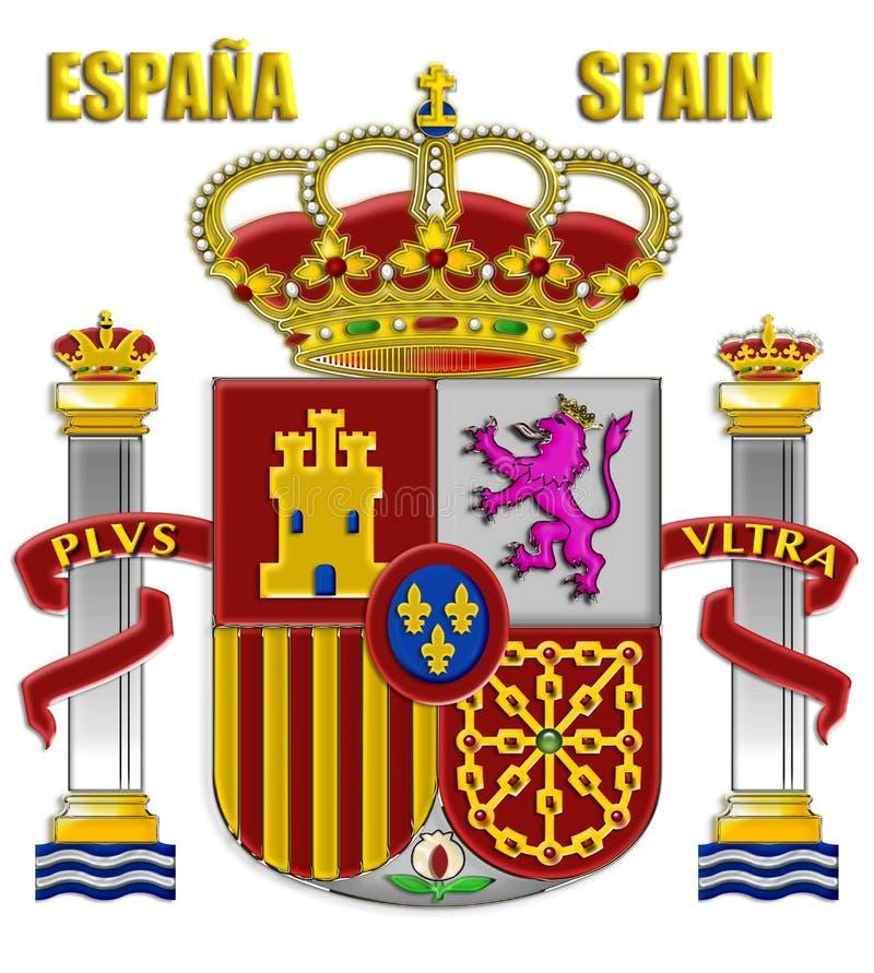 Le braccia della Spagna fotografia stock libera da diritti