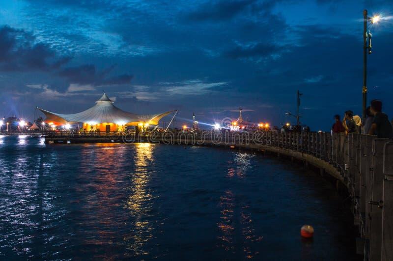 Le Bridge nell'ora blu immagini stock libere da diritti