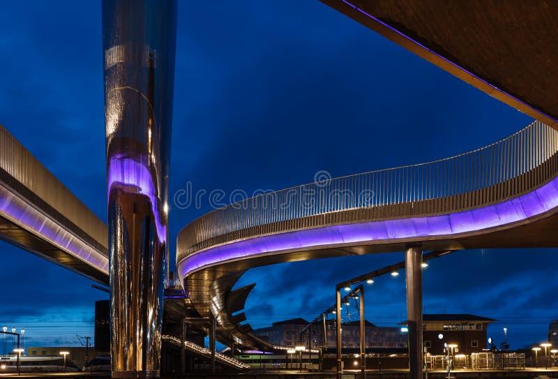 Le bro de Byens de pont de ville à Odense, Danemark image stock