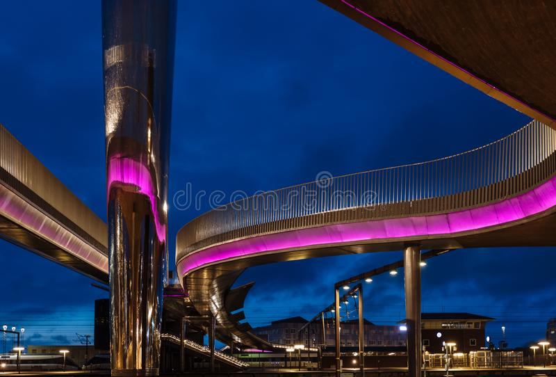 Le bro de Byens de pont de ville à Odense, Danemark images libres de droits