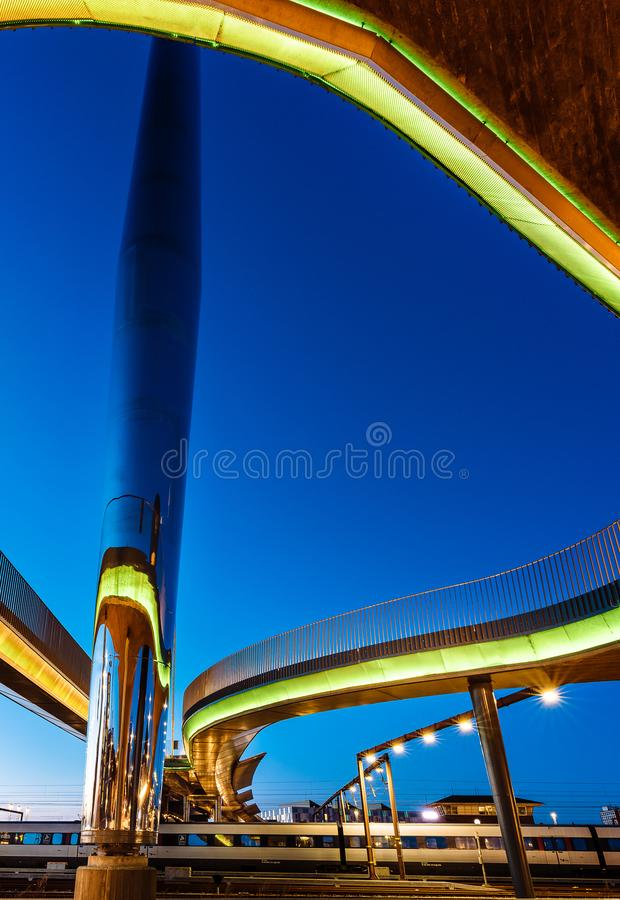 Le bro de Byens de pont de ville à Odense, Danemark photos libres de droits