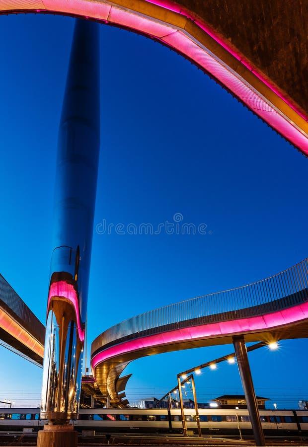 Le bro de Byens de pont de ville à Odense, Danemark photographie stock libre de droits