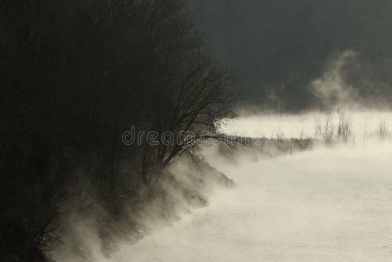 Le brouillard tombe le lac de centerhill image stock