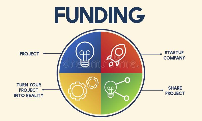 Le budget de donation de placement investissent le concept de monnaie de banque illustration de vecteur