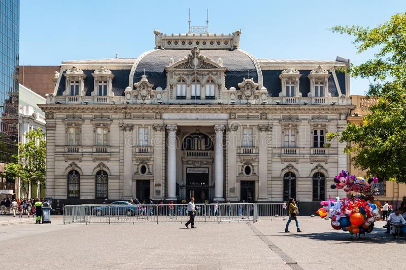 Le bureau de poste central de Santiago photo stock