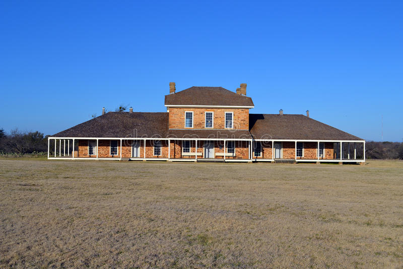 Le bureau du dirigeant de Richardson Military Hospital de fort photo stock