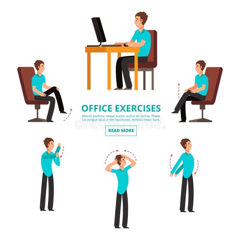 Le bureau exerce l'information de l'illustration réglée de vecteur illustration de vecteur