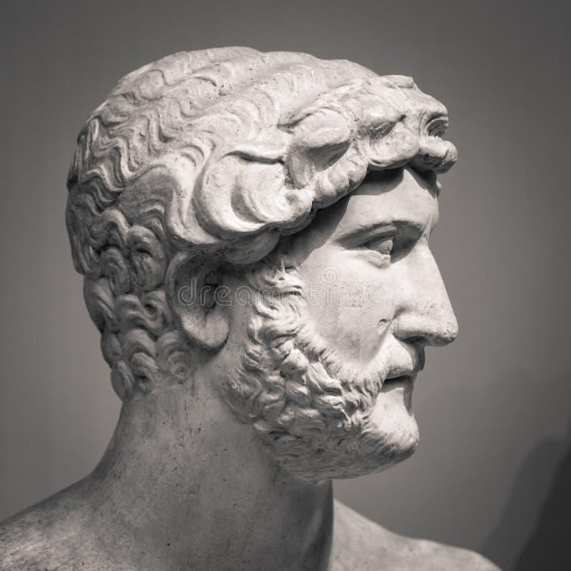 Le buste de marbre antique de portrait photo libre de droits