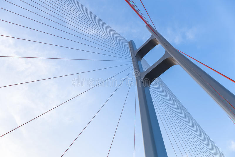 Le câble est resté le plan rapproché de pont photo stock