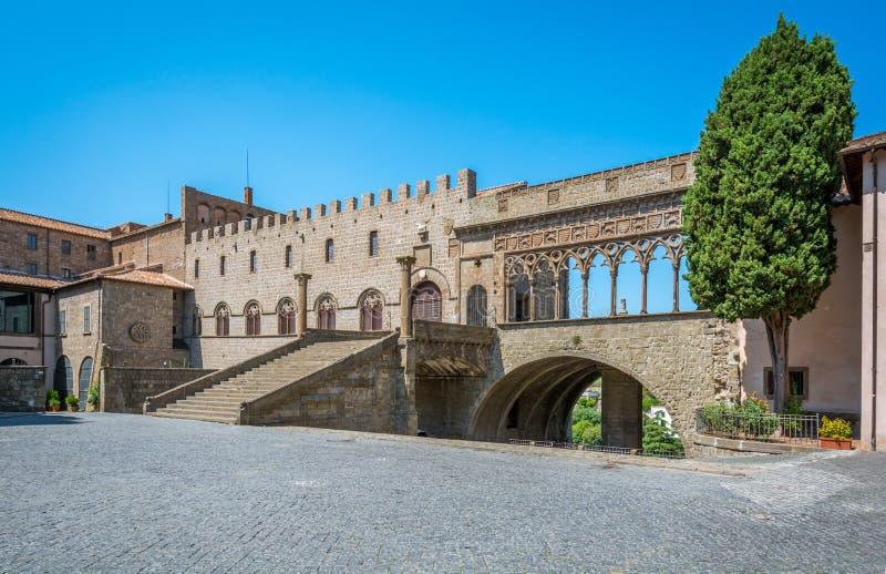 Le ` célèbre de Papi de dei de Palazzo de ` à Viterbe, Latium, Italie centrale photos libres de droits
