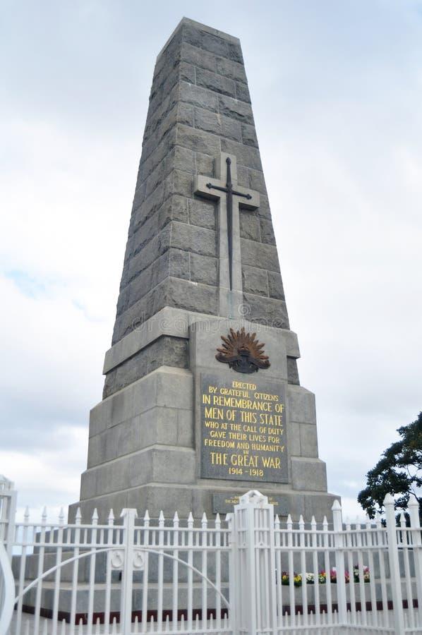 Le cénotaphe national de mémorial de guerre d'état commémore l'Australien occidental aux Rois Park et jardin botanique à Perth, A images libres de droits