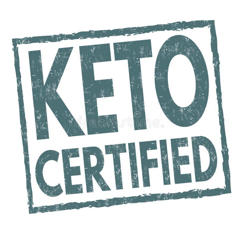 Le cétonique a certifié le signe ou le timbre illustration stock