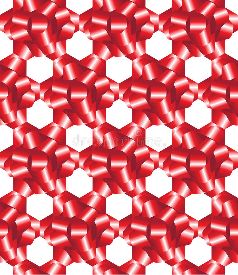 Le cadeau rouge cintre sans joint illustration libre de droits