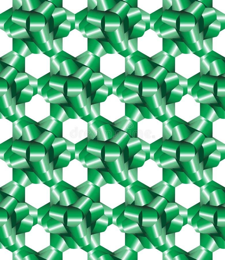 Le cadeau vert cintre sans joint illustration libre de droits