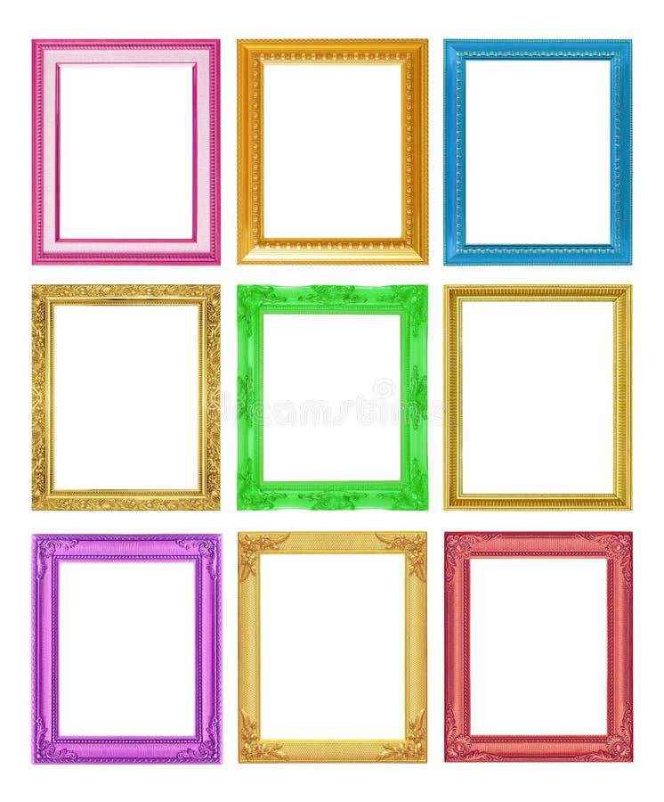Le cadre antique de collection sur le fond blanc images stock