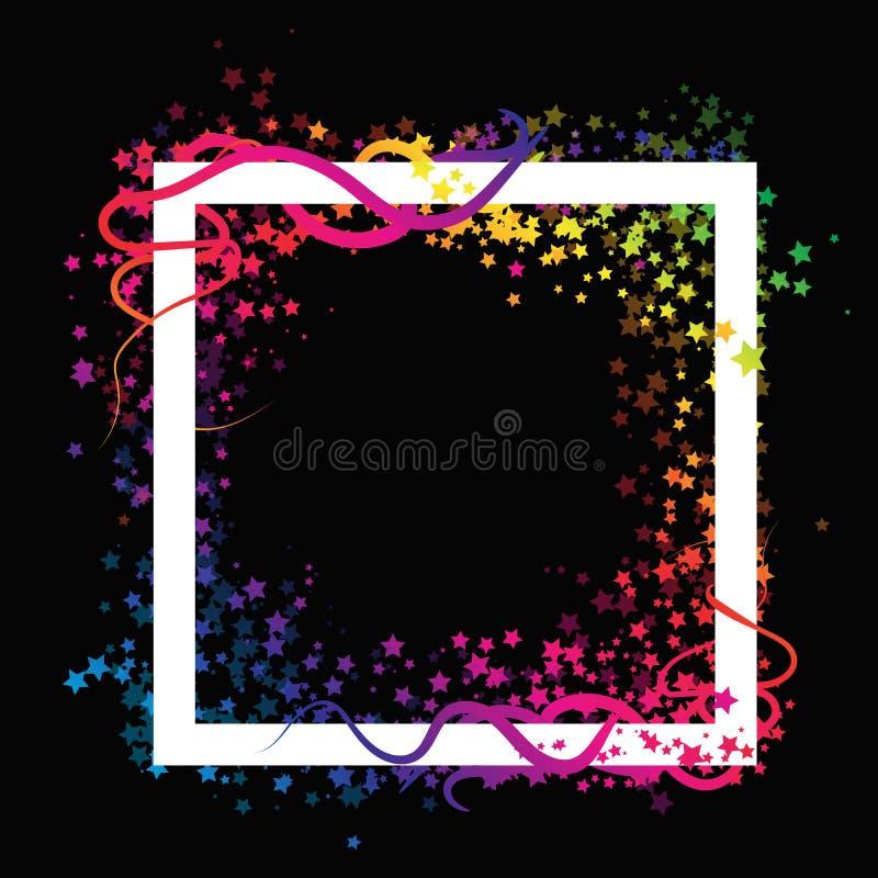 Le cadre de dispersion tient le premier rôle la partie magique de célébration de galaxie d'imagination avec illustration de vecteur