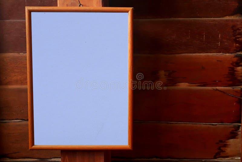 Le cadre de tableau est sur le mur image libre de droits