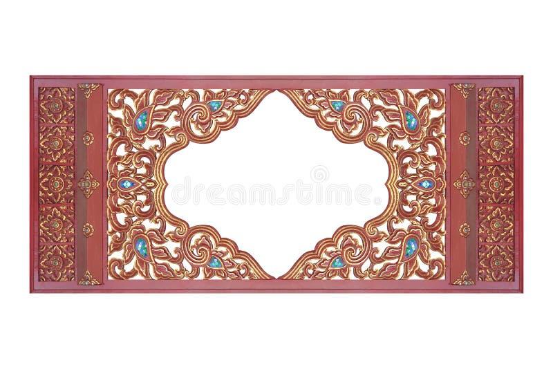 Le cadre en bois découpé fleurit la texture photo stock