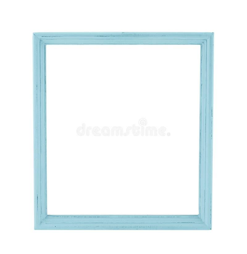 Le cadre en bois de photo de couleur en pastel dans le style rustique de pays a isolé o photos libres de droits