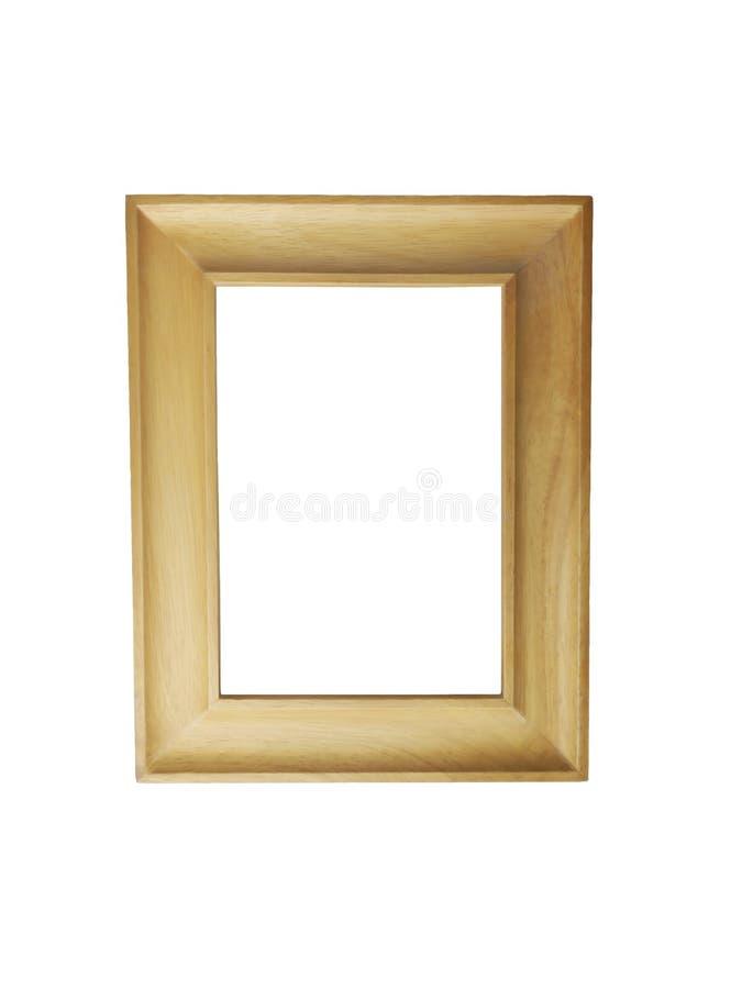 Le cadre en bois, isole sur un fond blanc photo stock