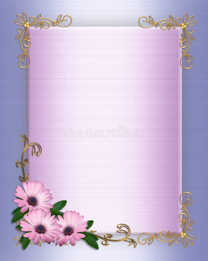 le cadre fleurit le mariage pourpré d'invitation illustration de vecteur