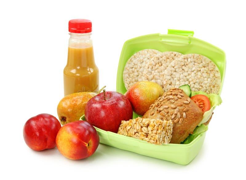 le cadre porte des fruits sandwich à déjeuner photographie stock