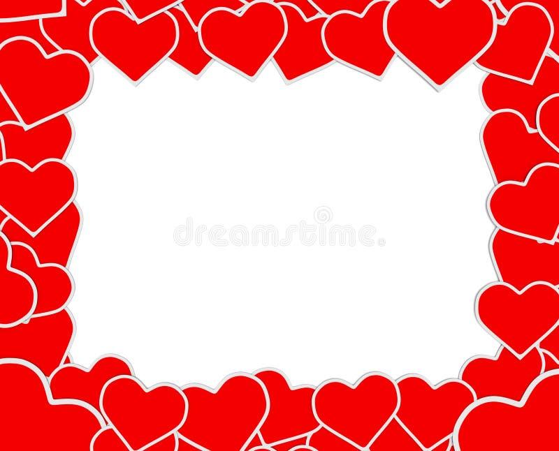 Le cadre rouge et blanc original illustration stock image 47166736 - Le rouge et le blanc ...