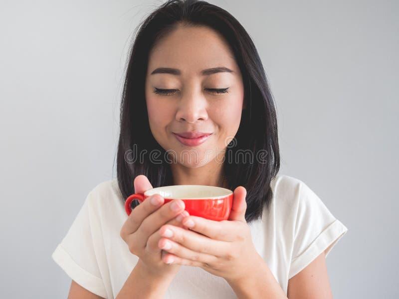 le café boit la femme image stock