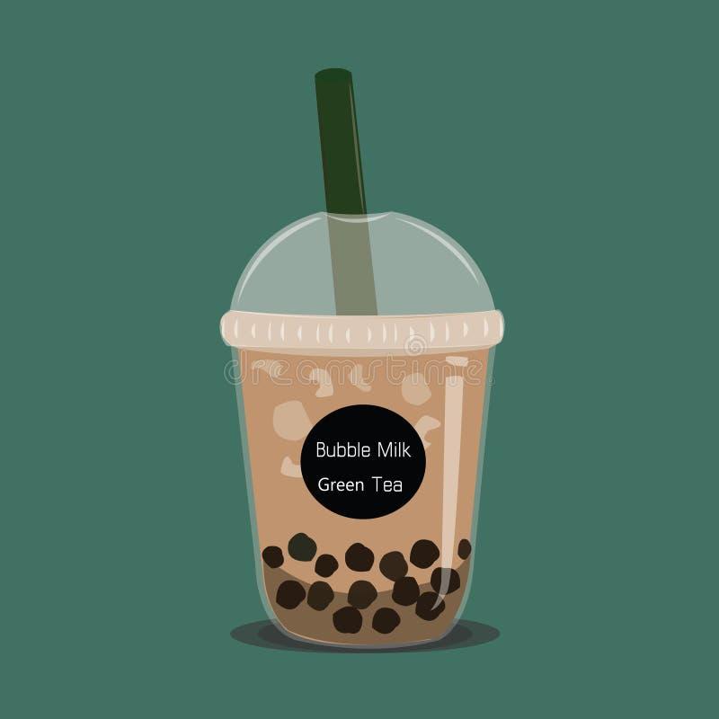 Le café de bulle Le café noir de perle est vecteur célèbre de tasse de boissons illustration de vecteur