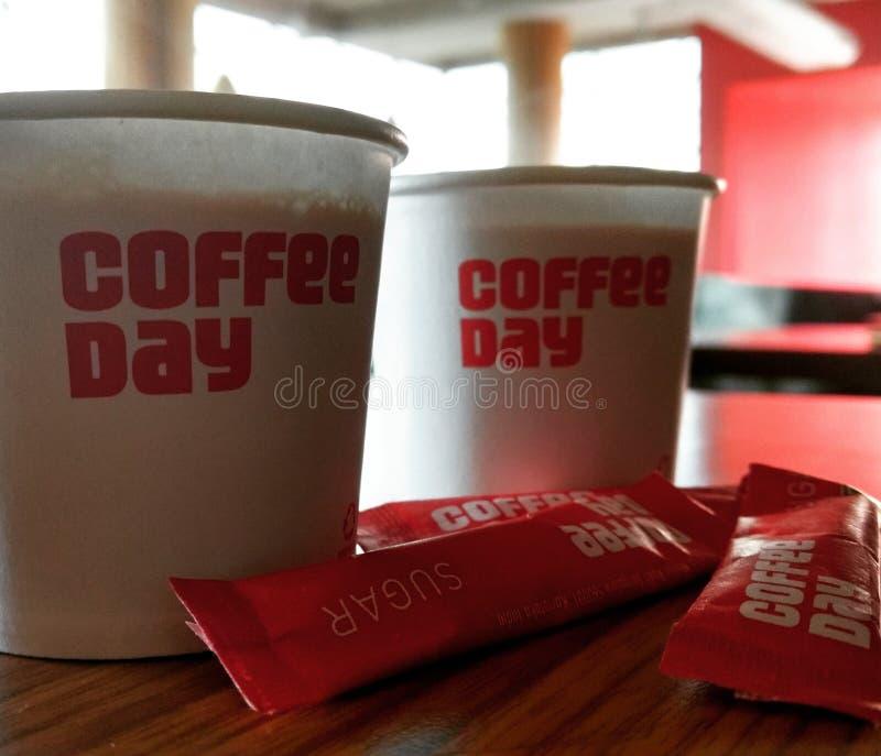 Le café est amour images libres de droits