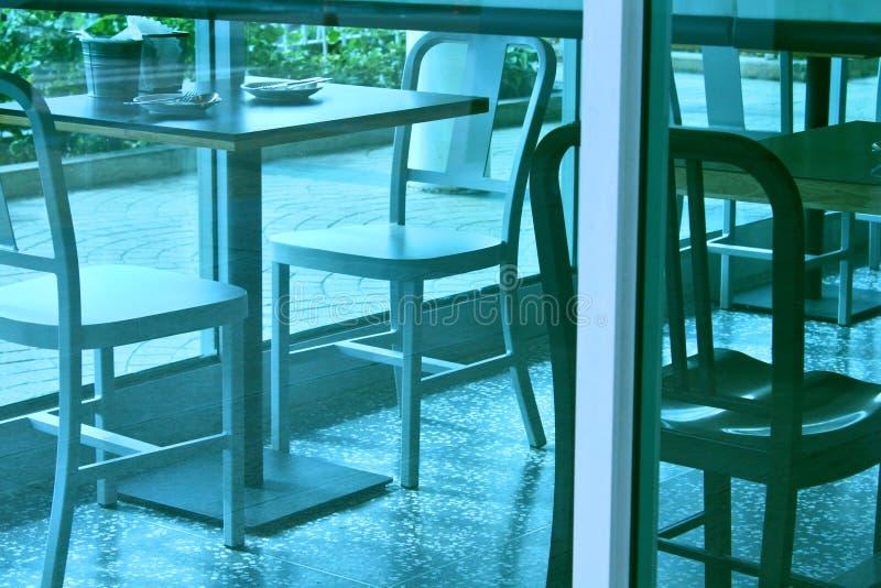 Le café préside le fond de vitrail de conception d'angle de Tableau photo libre de droits