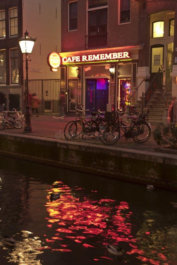 Le café se rappellent, le Rossebuurt, Amsterdam photo libre de droits